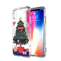 100Pcs Kerst Cartoon Herten Phone Case for iPhone XS Max XR X 11 Pro Silicone Cover for iphone 6 6s 7 Plus Case Beer for iPhone