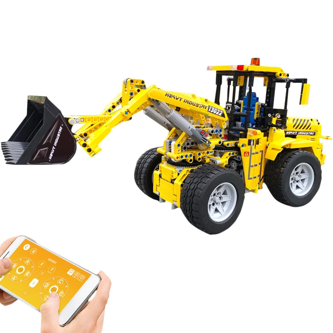1572 шт./компл. приложение 2,4G дистанционное управление Управление сборка сделай сам бульдозер строительные блоки модель игрушки