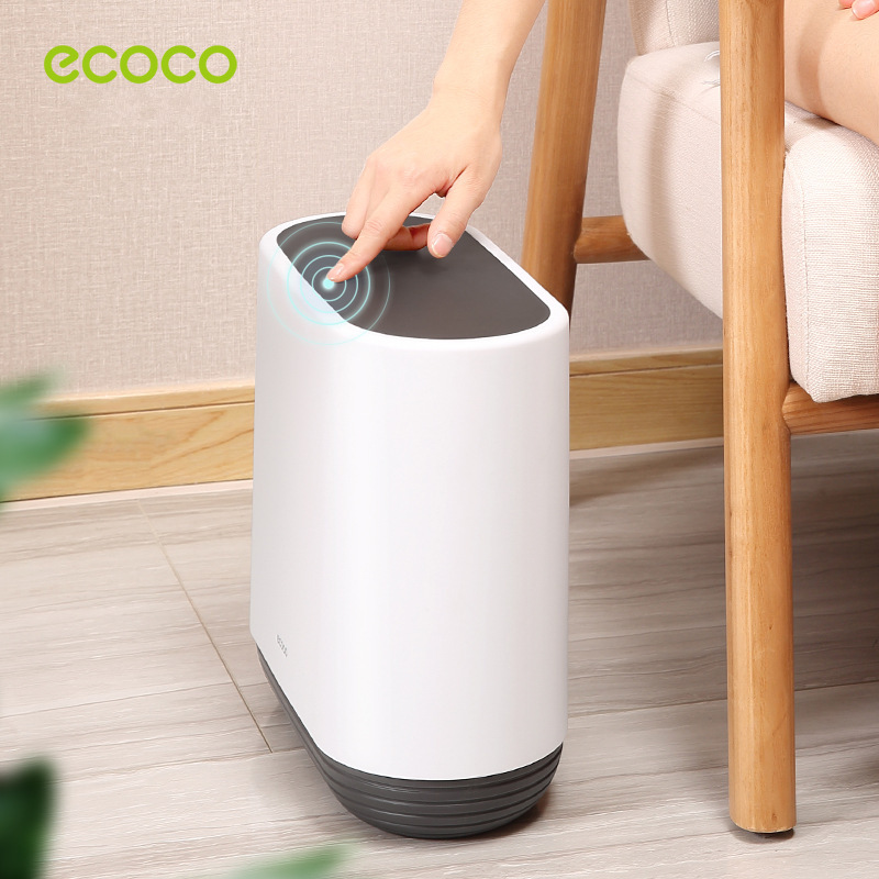 Ecoco Large Capacity 10L Trash Cans For The Kitchen Bathroom Wc Garbage Rubbish Bin Dustbin Bucket Crack Press Type Waste Bin