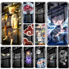 Luxury Japan Comic Naruto Luminous Tempered Glass Phone Case For iPhone 11 Pro MAX XR XS X 6 6s 7 8 Plus Cover Capa