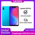 Глобальная версия смартфона Lenovo S5 Pro  6 ГБ  64 ГБ  Восьмиядерный процессор Snapdragon 636  20 МП  четыре камеры  6 2 дюйма  Восьмиядерный  4G LTE