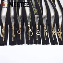 Meetee 5/10pcs 15/20/30cm 3# Metal Zipper Close-End Black White Zippers DIY Bag Purse Wallet Shoes Garment Zip Sewing Accessory