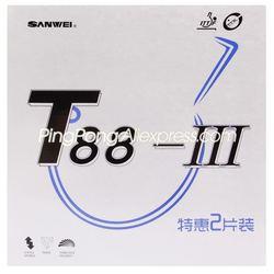 (10 rosso 10 Nero) SANWEI T88-3 Tennis Da Tavolo di Gomma (Half-appiccicoso, loop) SANWEI T88 Ping Pong Spugna