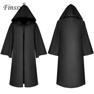 Image 1 - Halloween Death Wizard Cloak Cosplay Kostuum Monnik Hooded Gewaden Mantel Cape Friar Middeleeuwse Renaissance Priest Kids Adult