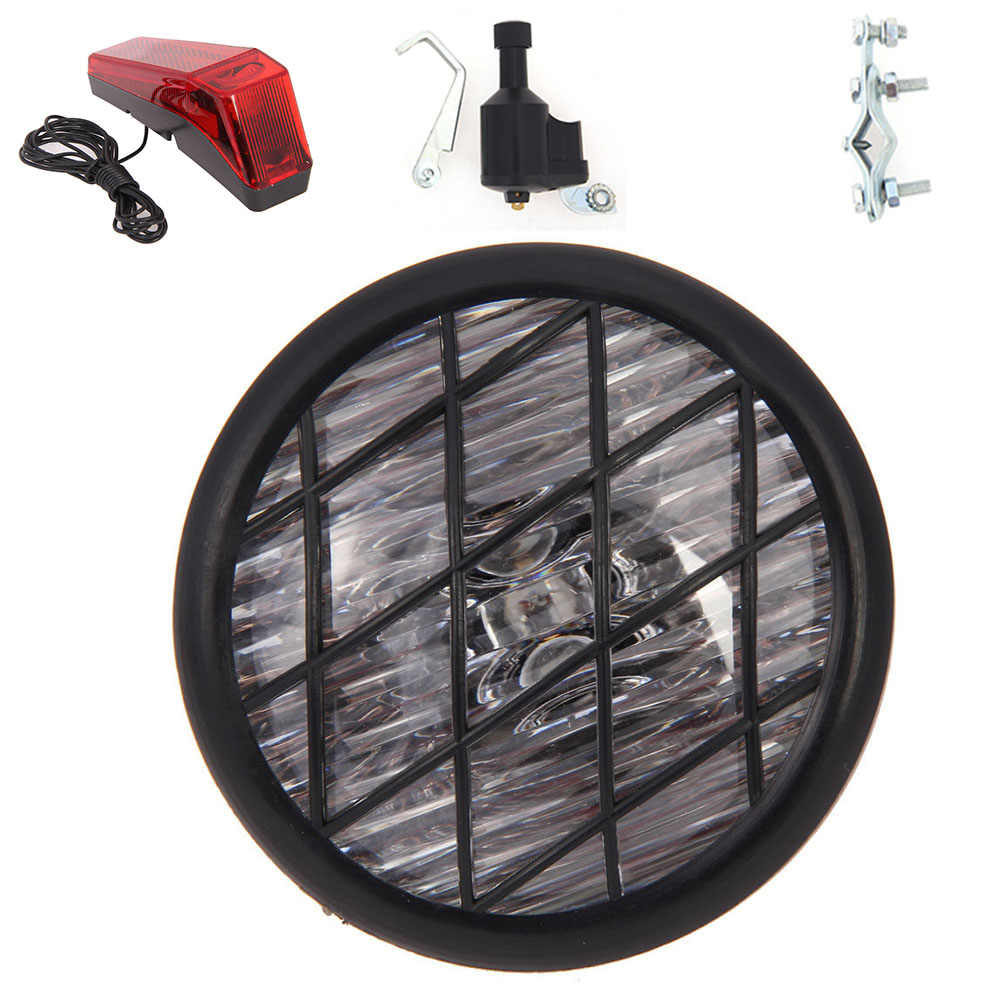 6V 3W Headlight Accessories Taillight Bicycle Lamp Set Riding Wheel Safety No Battery Needed Outdoor Bike Cycling Dynamo Lights