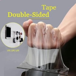 Traceless Tape 1/2/3/5m Reusable Double-Sided Adhesive Nano Tapes Removable Sticker Washable Adhesive Loop Disks Tie Glue