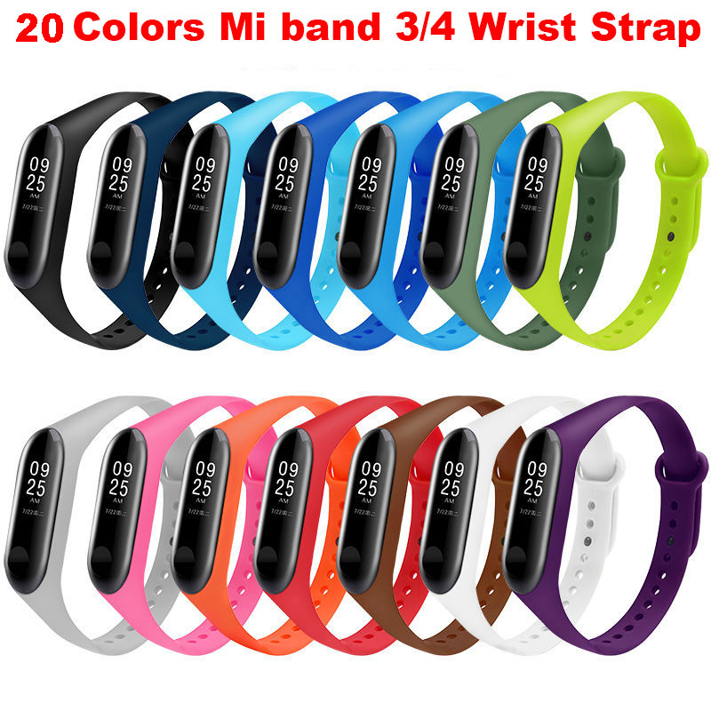 Wrist-Strap Replacement Silicone Bracelet Correa Mi-Band Xiaomi for 3/4 Watch-strap/Mi-3/4-pulsera/..