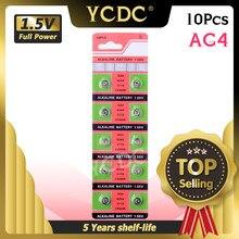 Ycdc atacado 10 pçs/lote = 1 cartão célula de bateria tipo moeda ag4 377a 377 lr626 sr626sw sr66 lr66, tianqiumarca bateria