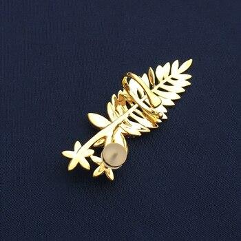 Bulgarian earrings S925 sterling silver golden yellow jellyfish palm leaf small fish starfish seahorse tassel earrings female