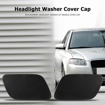 ABS Headlight Washer Cover Durable Black Cap Automobiles Jet Nozzle Accessories for Audi A4 B7 2005-2009 Replacement image