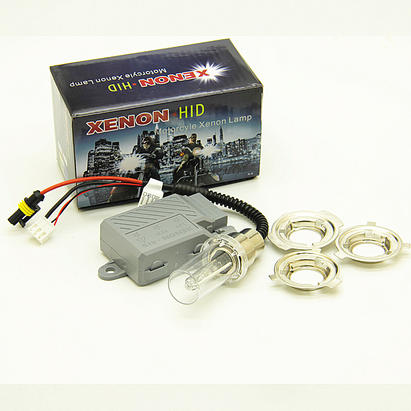 35W Xenon Motorcycle HID Lights H4 BA20D H6 Hi/Lo 6000K Motorcycle Headlight Universal HID Xenon Kit