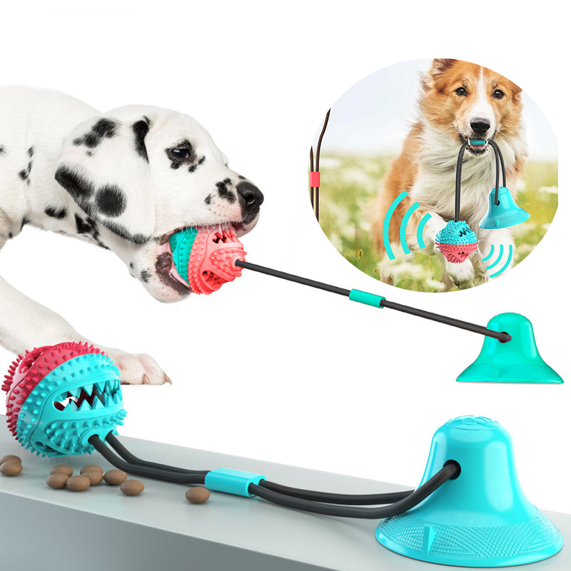 Dog Toys Silicon Suction Cup Tug Dog RUbber Toy For Large Small Big Dog Chew Sound Interactive Toothbrush Cleaing Tooth Bite Toy image