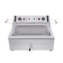 Электрическая жаровня для картофеля фри 20/30 л с одной емкостью