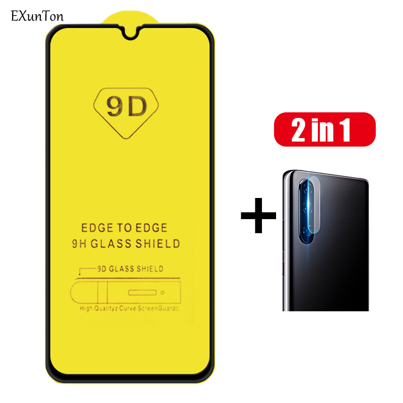 100% 9D Tempered Glass for Samsung Galaxy A70 A80 A40 Glass Screen Protector for Samsung A30 Samsung-a30 A20 A 70 Glasses Black