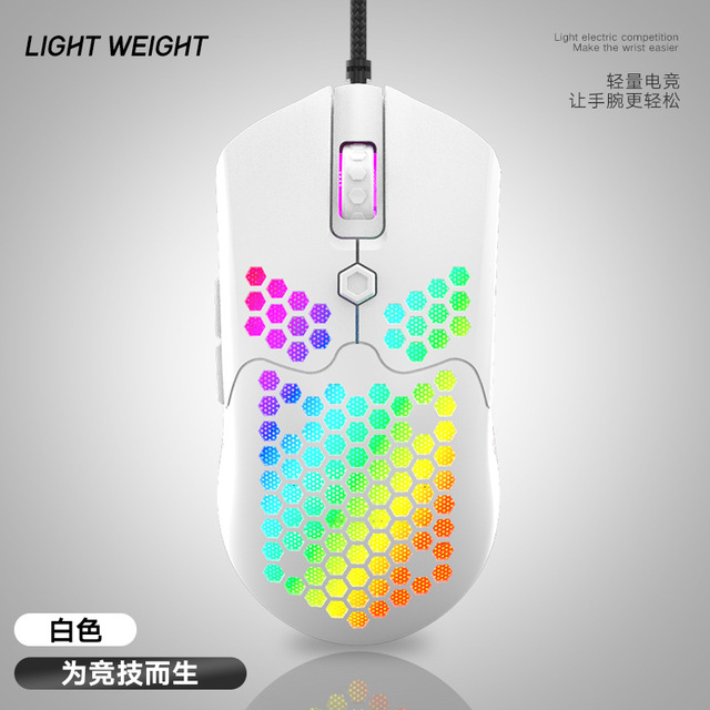 M5 Wasp Lightweight Wired Hollow Hole Mouse E-sports Game Mouse Ergonomic Optical Mouse Eating Chicken Computer Gaming Mouse giá rẻ