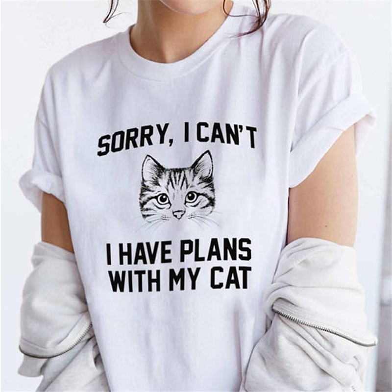 Lus Los Letters Printed Shirts For Women With Funny Saying Cat Graphic Shirts Kitty T Shirts Meow Shirts Tumblr T Shirt