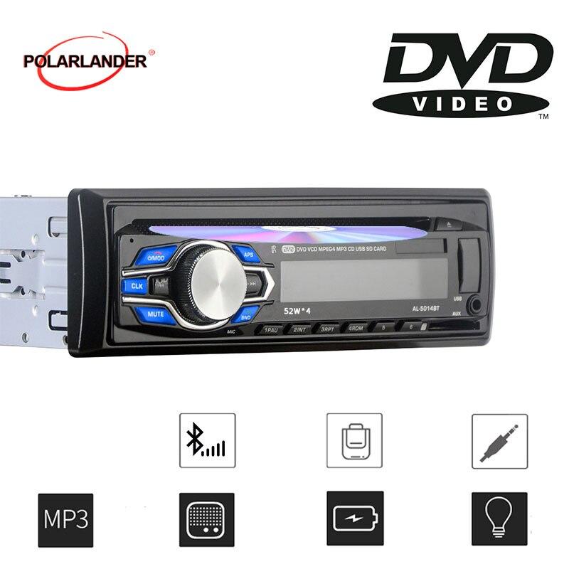 Lecteur DVD VCD Autoradio 1 Din | Bluetooth 12V, Audio, lecteur MP3 stéréo, SD/USB/AUX -in-dash, mains libres, nouveau