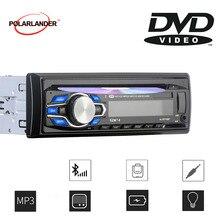 New 1 Din Car Radio DVD VCD CD Player Bluetooth 12V Audio DVD MP3