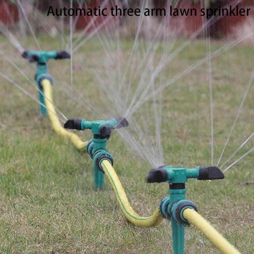 360 /° Di Rotazione Di Spruzzatore Di Irrigazione in Plastica Rotary Lawn Sprinkler Capo 20mm Per Giardino Irrigazione nero 1pc