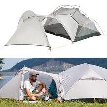 3 シーズンmongarキャンプテントナイロンfabic二重層防水テント 2 人超軽量テントテント屋外のキャンプのための