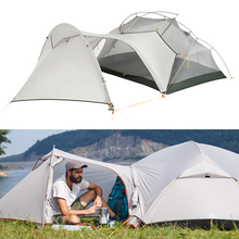 3 sezon Mongar kamp çadırı naylon kumaş çift katmanlı su geçirmez çadır 2 kişilik Ultralight çadır çadır açık kamp