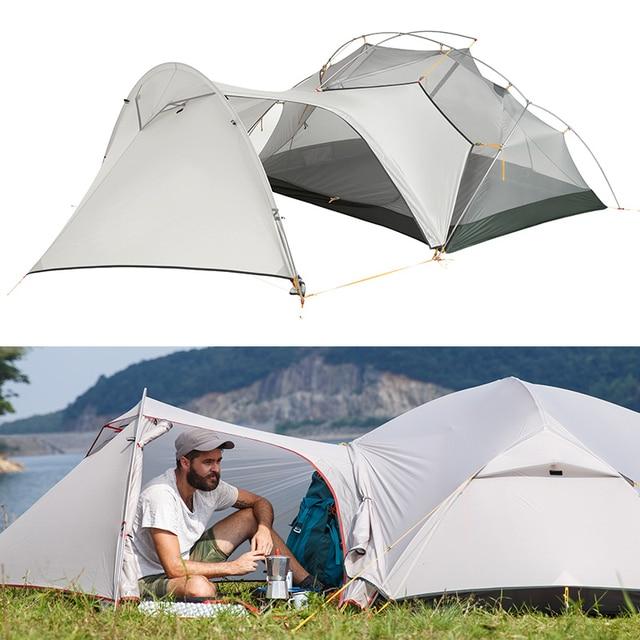 3 stagione Mongar Tenda Da Campeggio Nylon Fabic A Doppio Strato Impermeabile Tenda per 2 Persone Ultralight Tenda Tende Da Campeggio Allaperto