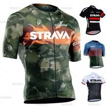 STRAVA Cycling Jerseys Summer MTB Anti-UV Men's Bicycle Jersey Team Bike Jerseys Cycling Jersey Maillot Ciclismo Bike Clothing