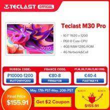 Teclast – Tablette PC de 10.1 pouces M30 Pro, P60, 8 cœurs, 4 go de RAM, 128 go de ROM, Android 10, IPS, 4G, appel téléphonique, double Wifi, GPS, 1920x1200