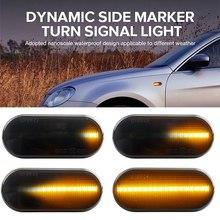2Pcs Auto LED Seite Marker Blinker Licht Auto Dynamische Fender Anzeige Lampe Für VW MK4 Golf R32 Käfer