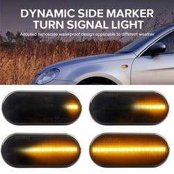 2Pcs Car LED Side Marker Turn Signal Light Auto Dynamic Fender Indicator Lamp For VW MK4 Golf R32 Beetle