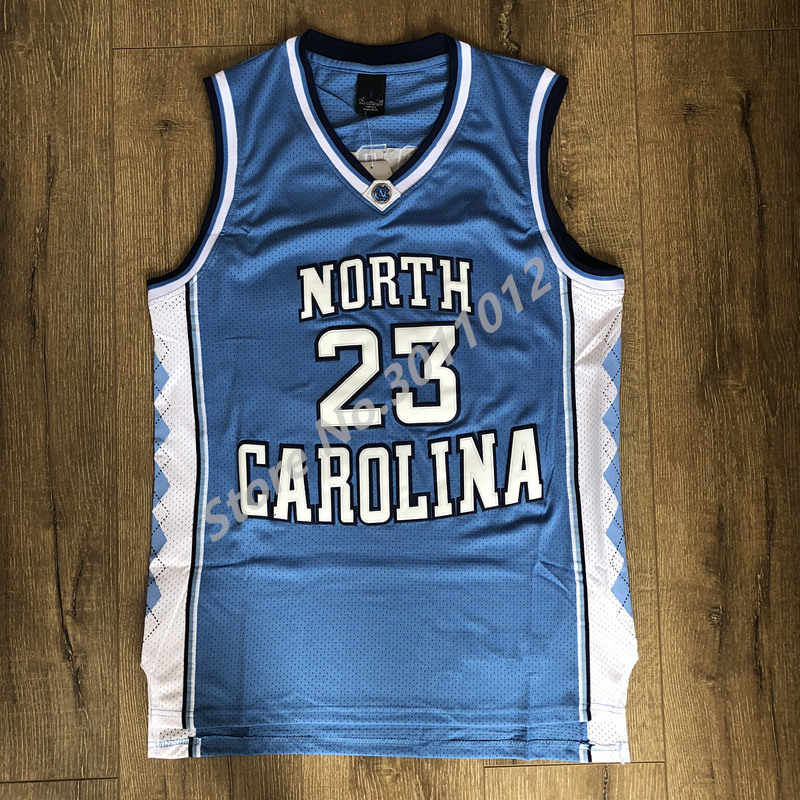 Mens #23 Michael Jordan #15 Vince Carter North Carolina UNC College Basketball Stitched Jersey US Size S-XXL