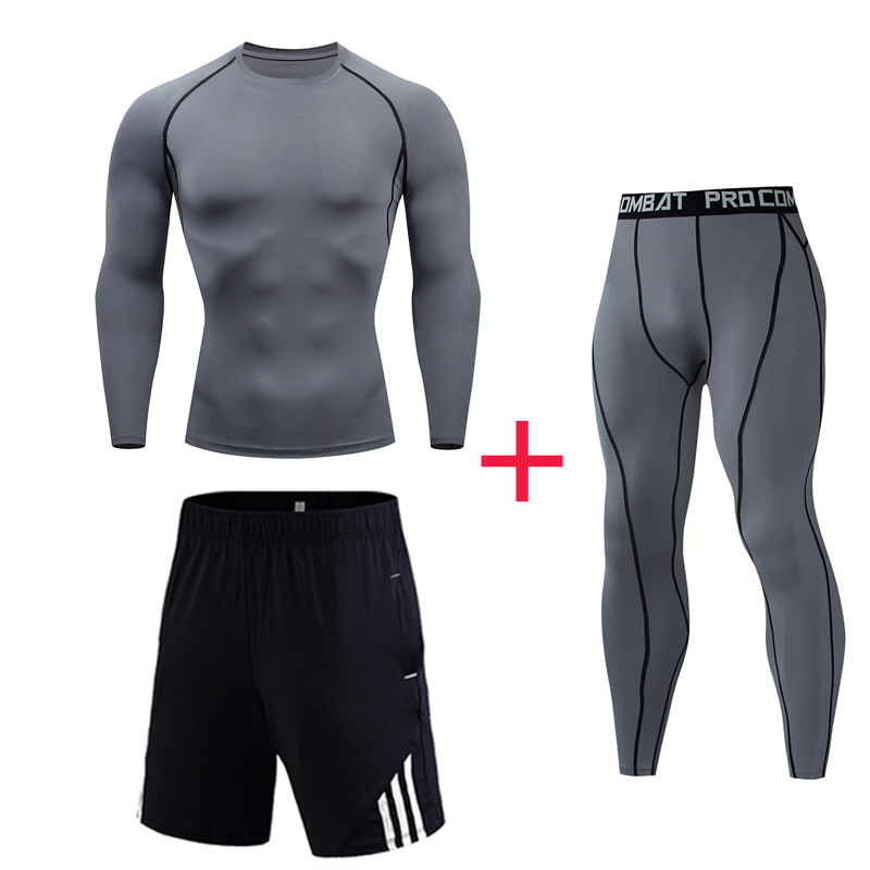 High Quality New  Men's Fitness Suit Compression Quick-drying Thermal Underwear Men's Sports Training Clothing