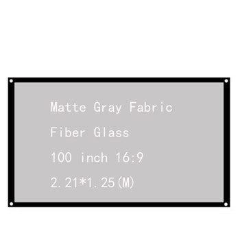 Thinyou 100 inch 16:9 Matte Gray Fabric Fiber Glass White Projection Screen For HD Projector Home Theater Cinema Movies Party newpal 150 inch projector screen 4 3 16 9 foldable projector screen for outdoor and home cinema movies