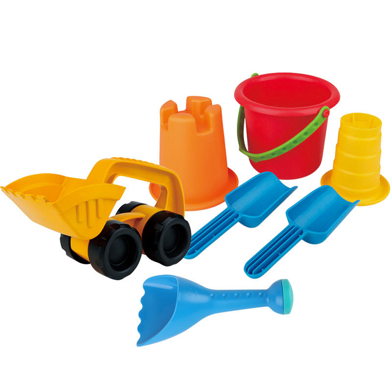 Hape Beach Toys Sand Toys Soft Send Car Silicone SandBox Set Sea Sand Bucket Bath Toy