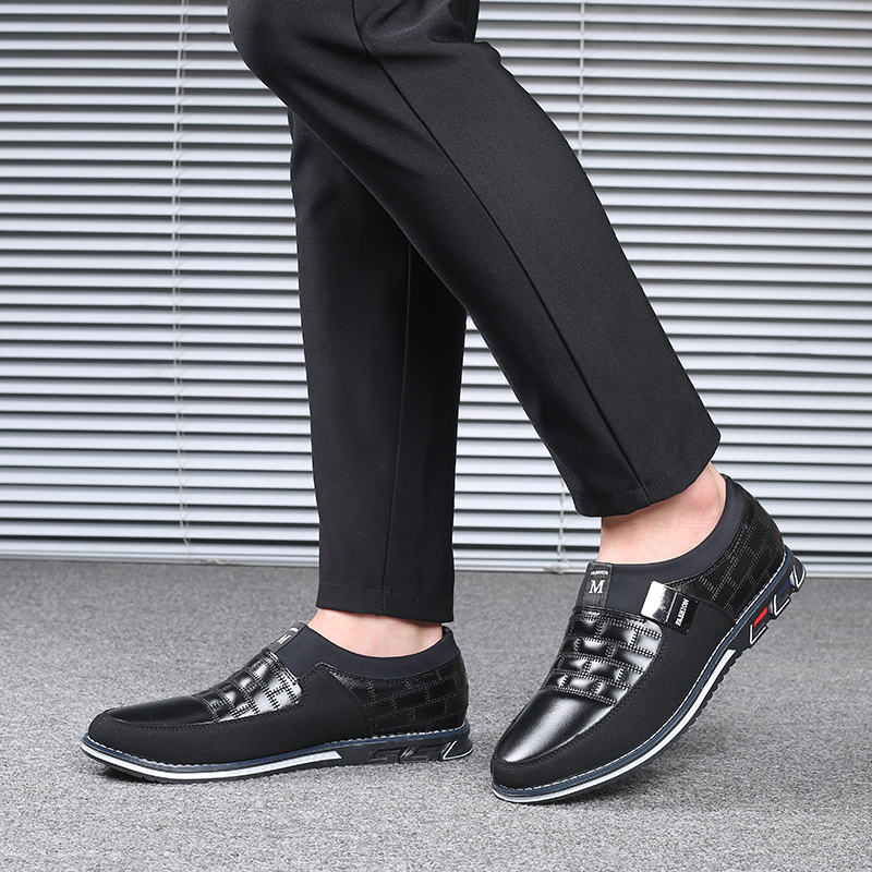 Image 5 - Leather Men Casual Shoes 2019 Brand Mens Loafers Moccasins Breathable Slip on Black Driving Shoes Big SizeMens Casual Shoes   -