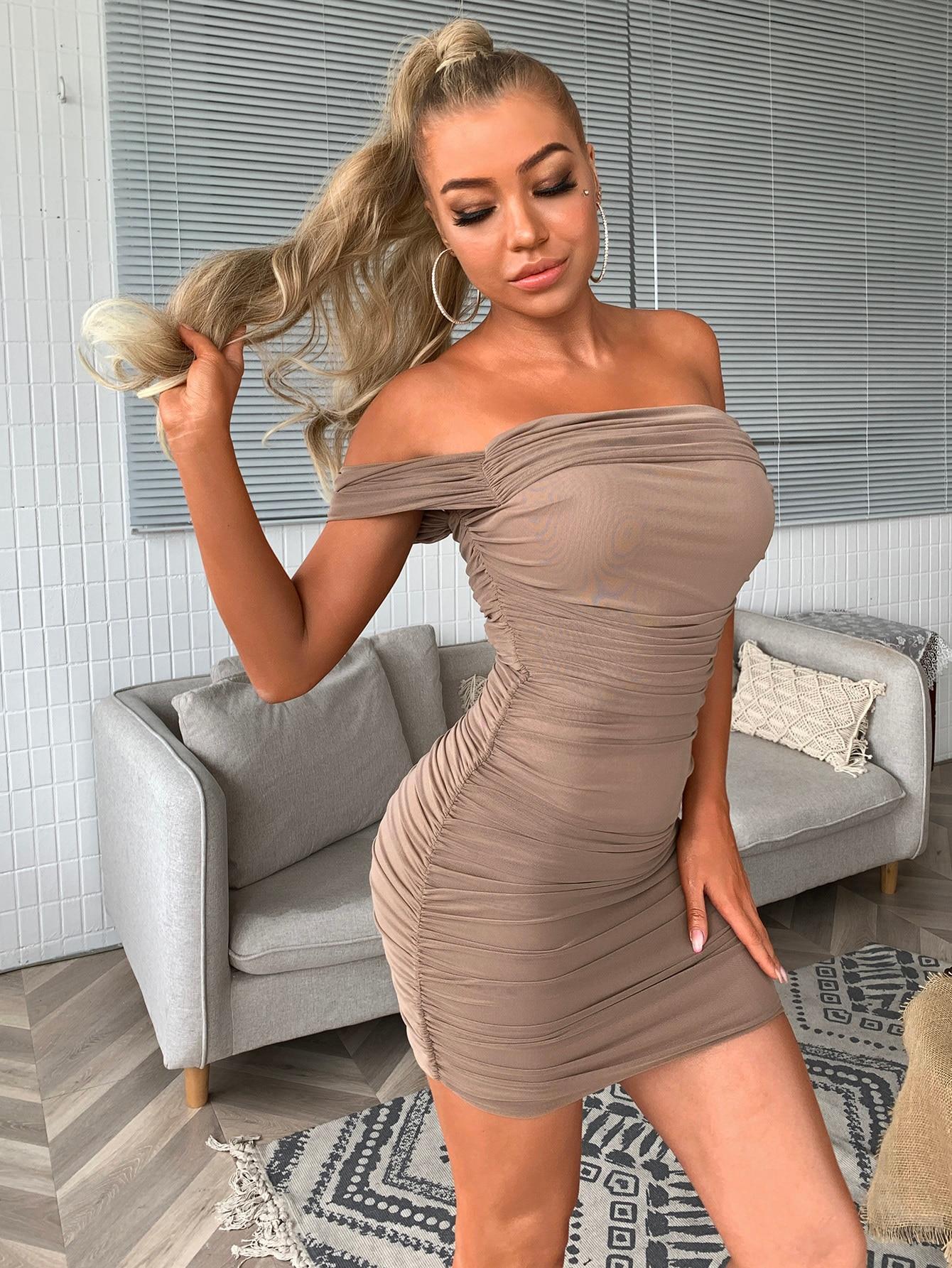 Robe de soirée pour femmes, épaules dénudées, Sexy, longue, moulante