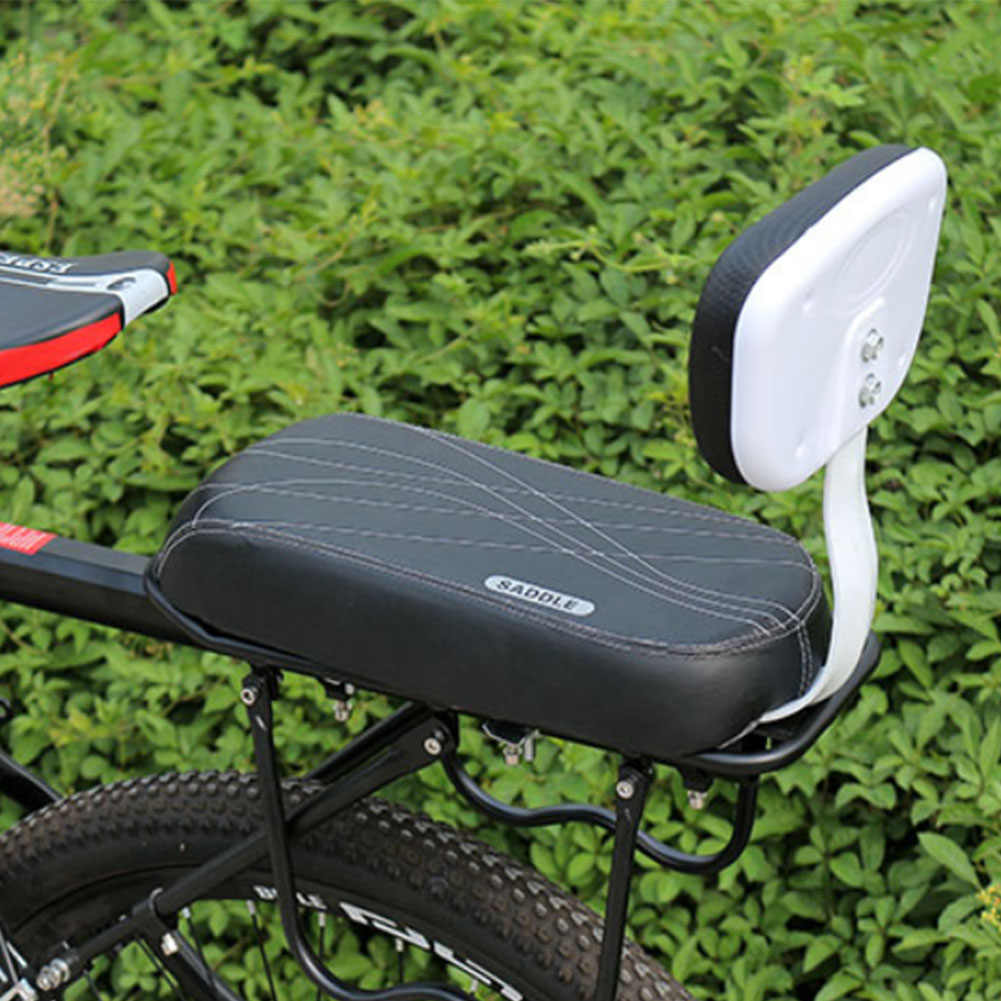 DYRABREST Cycle Rear Seat Cushion Armrest Suit Bicycle Rear Seat Cushion Armrest Footrest Set Bike Back Seat Child Safety Cushion Armrest with Handrail Rear Feet Pedals