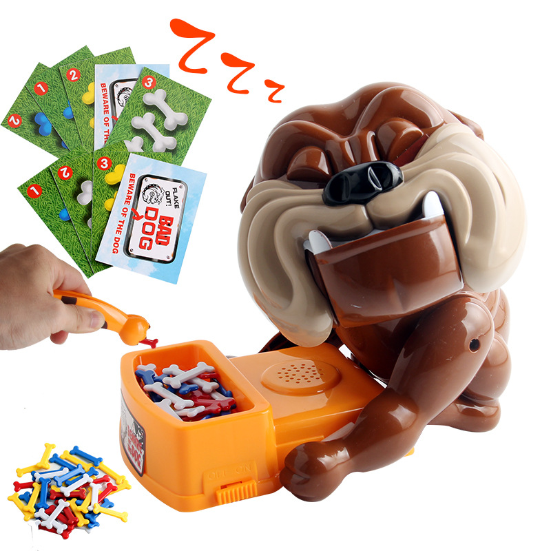 Creative Tricky Novelty Toys Gag Gifts Beware Of The Vicious Dogs Stealing Bones Cards Electric Interactive Toys For Children