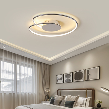 Hot Chrome/Gold Plated modern led Ceiling lights for living room bedroom study room home deco 90-260V ceiling lamp fixtues 1