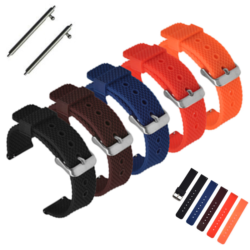 Luxury Brand Soft Rubber silicone Watch band 18mm 20mm 22mm <font><b>24mm</b></font> Quick Release Watchband Bracelet For navitimer/<font><b>Breitling</b></font> <font><b>strap</b></font> image