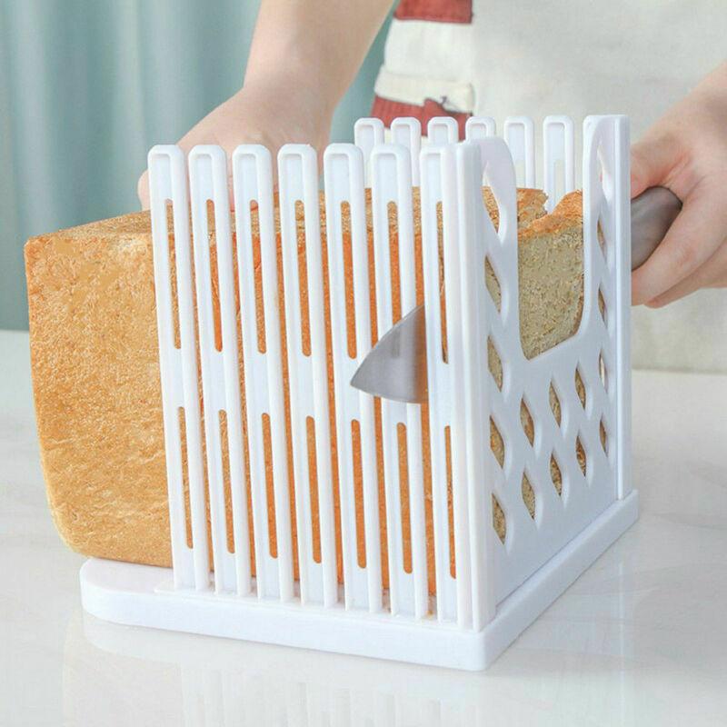 Профессиональный резак для хлеба, резак для тостов, направляющая для нарезки, кухонный инструмент, практичный резак для хлеба