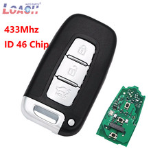цена на 3 Button Remote key  For Hyundai 315MHz / 433MHz With ID46 Chip for I30 I45 Ix35 Genesis Equus Veloster Tucson Sonata Elantra