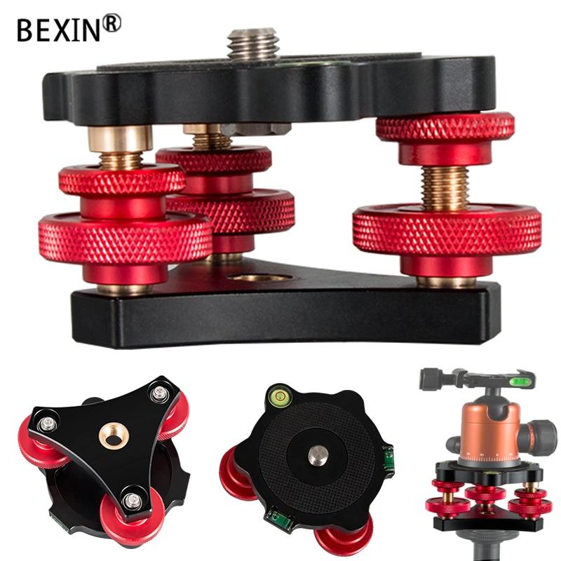 BEXIN trépied nivellement rapide Base niveleur réglage Base panoramique niveau à bulle pour Canon Nikon appareil photo reflex numérique trépied