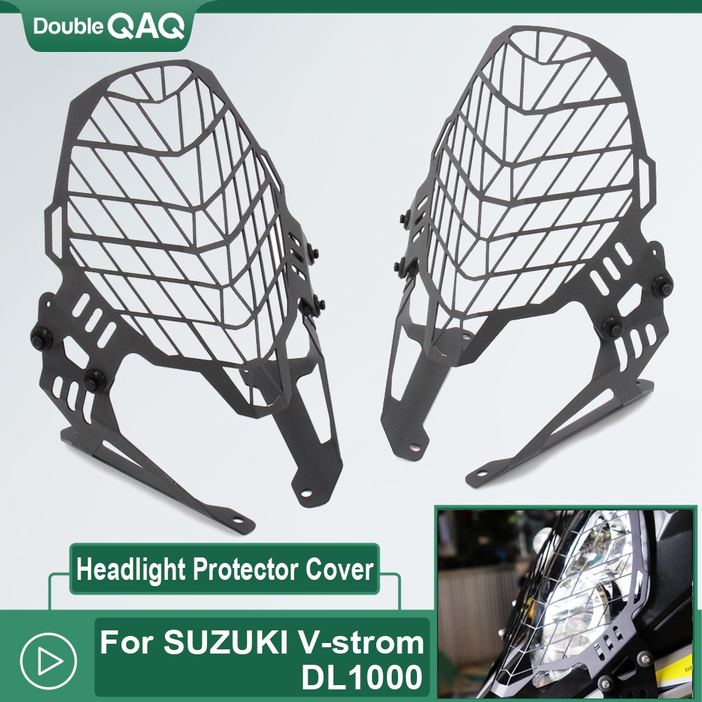 Motorcycle Headlight Protector Guard Lense Cover Cooled For SUZUKI DL1000 <font><b>V</b></font>-<font><b>strom</b></font> <font><b>DL</b></font> <font><b>1000</b></font> Vstrom <font><b>1000</b></font> 2017 2018 2019 2020 image