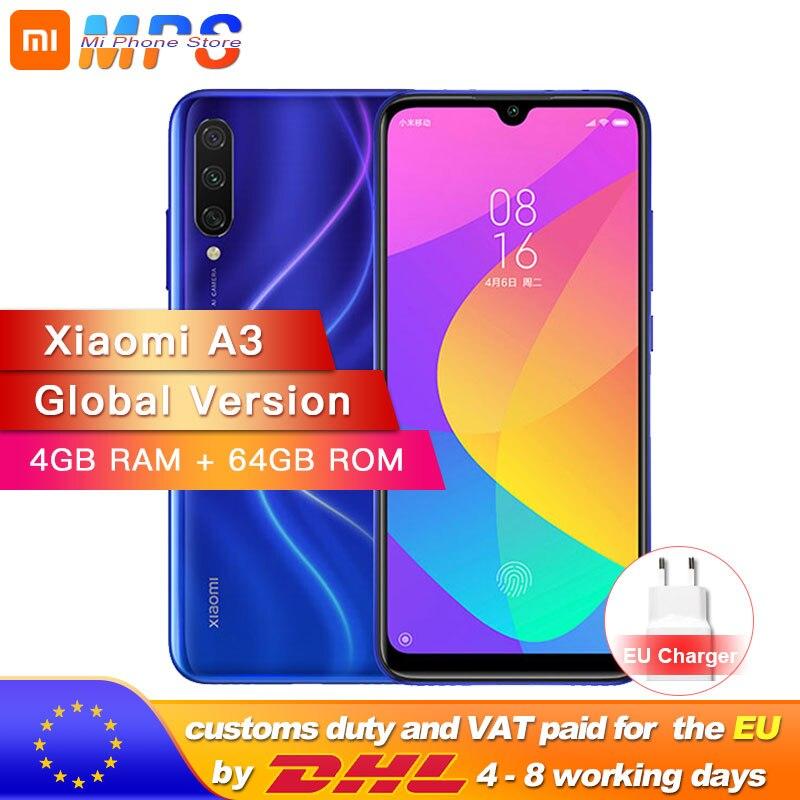 In Stock Global Version Xiaomi Mi A3 MiA3 4GB 64GB Smartphone Snapdragon 665 Octa Core 6.088