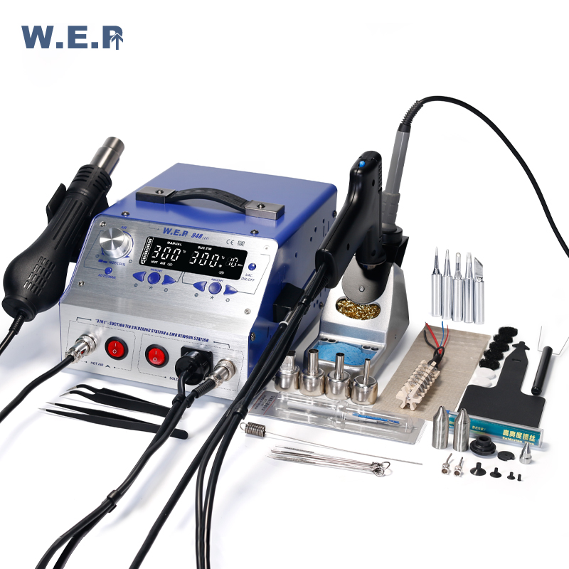 WEP 948-II Rework Station  Hot Air Gun Sucker Tin Gun Soldering Iron Suction Pen  4In 1 Soldering Station