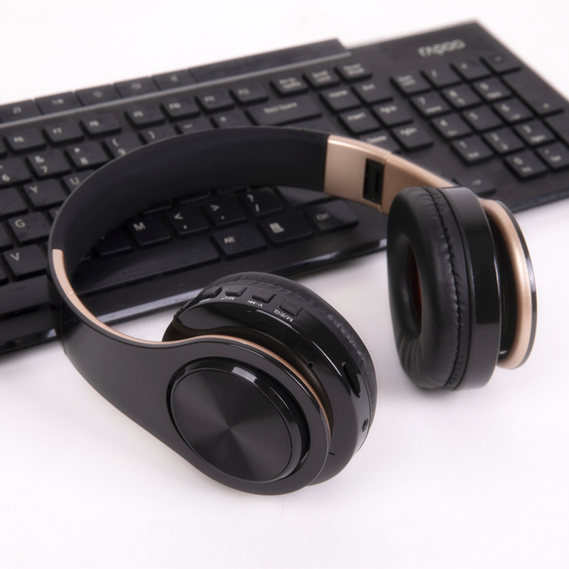 Tourya Wireless Bluetooth Headphones Bass Stereo Headset Foldable Headphone Adjustable Earphones With Mic for PC Cellphone TV