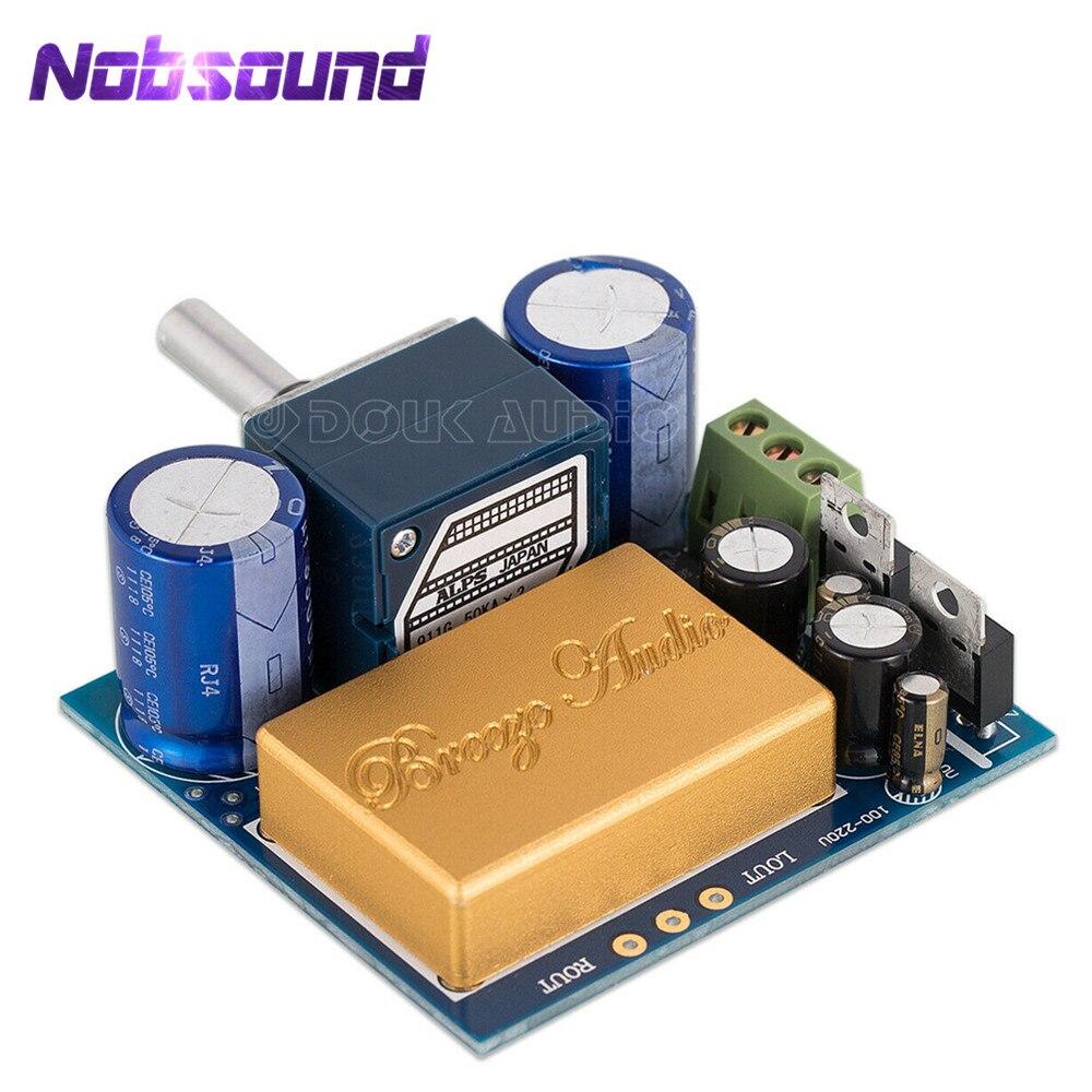 Módulo de Pré-amplificador Alpes com Blindagem Nobsound Completa Hi-fi Op-amp Mini Estéreo Áudio Preamp Placa dc