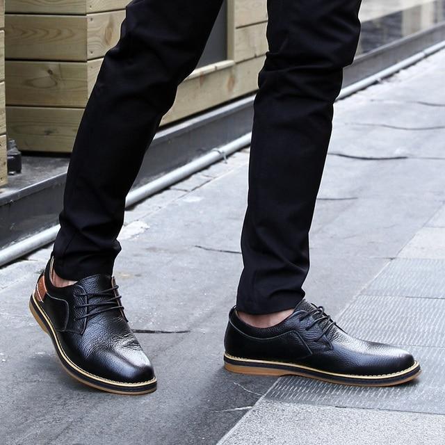 Мужские туфли оксфорды из натуральной кожи 5