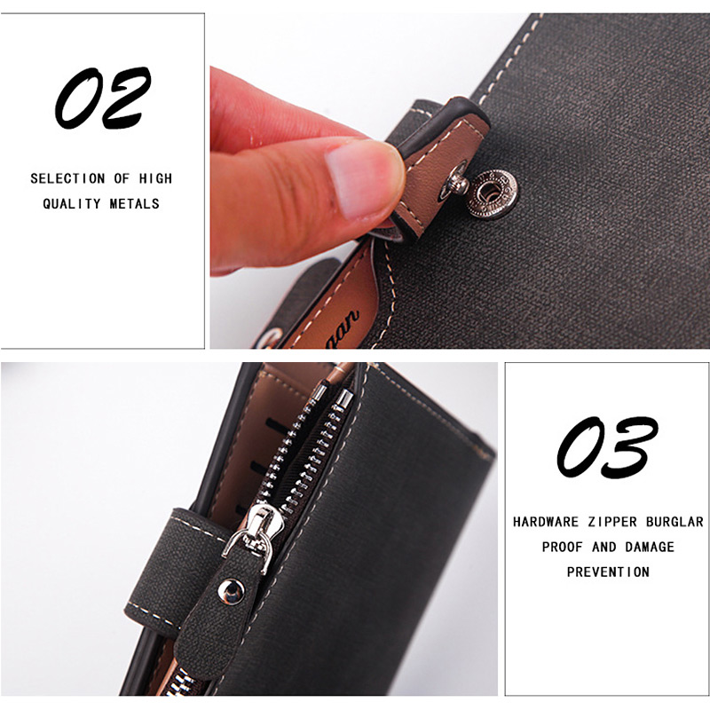 H617e86cae9fe4c27b9c834dcf0f87df5P - New Business men's wallet Short vertical Male Coin Purse casual multi-function card Holders bag zipper buckle triangle folding